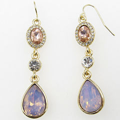 Vieste Rosa Pink Brass Drop Earrings
