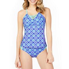 Arizona Medallion Tankini Swimsuit Top or Hipster Bottom-Juniors