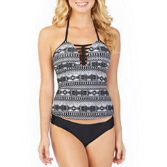 Ambrielle Pattern Tankini Swimsuit Top or Hipster Bottom