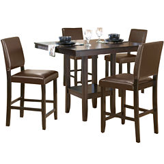 Arcadia 5-pc. Dining Set with Parson Stools