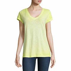 a.n.a Short Sleeve V Neck T-Shirt-Talls