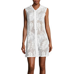 a.n.a Solid Crochet Swimsuit Cover-Up Dress