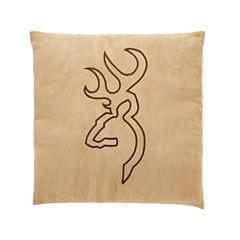 Browning Buckmark Suede Throw Pillow