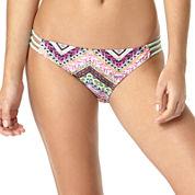 Arizona Chevy 3-Strap Hipster Swim Bottoms - Juniors