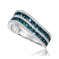 LIMITED QUANTITIES Le Vian Grand Sample Sale 1¼ CT. T.W. White and Color-Enhanced Blue Diamond Ring