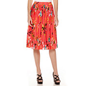 Liz Claiborne® Midi Pleated Print Skirt - Tall