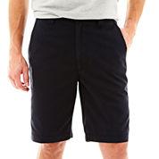 St. John's Bay® Legacy Flat Front Shorts