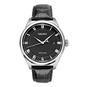 Seiko Mens Black Strap Watch-Srpa97