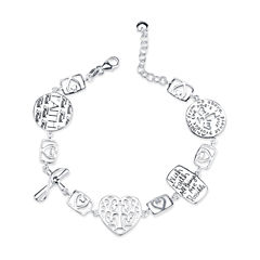Inspired Moments Womens Sterling Silver Charm Bracelet