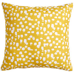 Scribble Paint Brush Yellow Throw Pillow