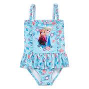 Disney Disney Princess Solid One Piece Swimsuit Toddler Girls