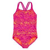Nike® Scribble Print Swimsuit - Girls 7-16