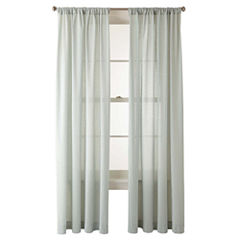 JCPenney Home™ Ascension Rod-Pocket Swiss Dot Cotton Sheer Panel