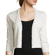 RN studio by Ronni Nicole 3/4-Sleeve Pearl Shrug