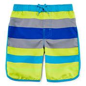 Arizona Striped Swim Trunks - Preschool Boys 4-7