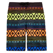 Arizona Aztec Print Swim Trunks - Boys 8-20