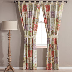 Greenland Home Fashions Blooming Prairie 2-Pack Tab-Top Cotton Curtain Panels