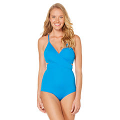 Laundry By Design Solid One Piece Swimsuit