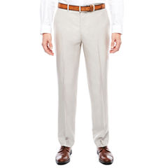 J.Ferrar Bone Shimmer Flat Front Pants-Slim Fit