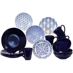 Baum Blue and White 16-pc. Dinnerware Set
