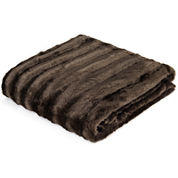 Madison Park York Long Faux-Fur Throw
