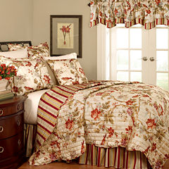 Waverly® Charleston Chirp Papaya Quilt Set