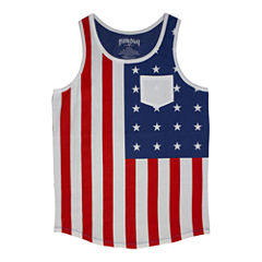 U.S. Flag Graphic Tank Top