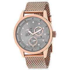 Christian Van Sant Mens Rose Goldtone Bracelet Watch-Cv8713