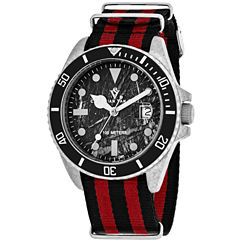 Christian Van Sant Mens Multicolor Strap Watch-Cv5100nrb