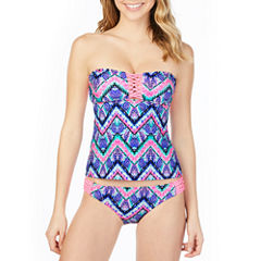 Arizona Tie Dye Tankini Swimsuit Top-Juniors