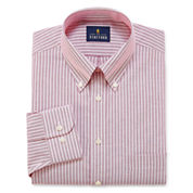 Stafford Wrinkle-Free Oxford Long Sleeve Dress Shirt