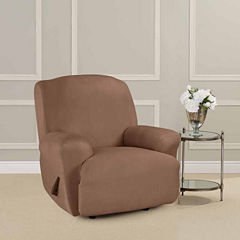 SURE FIT® Ultimate Heavyweight Stretch Suede Recliner Cover