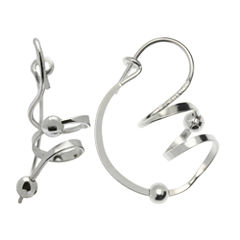 Silver Treasures Bijoux Bar Sterling Silver Drop Earrings