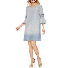 a.n.a3/4 Sleeve Shift Dress