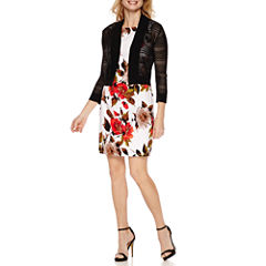 Ronni Nicole 3/4 Sleeve Shrug with Alyx Sleeveless Sheath