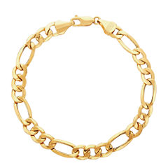 Made In Italy Mens 9 Inch 14K Gold Chain Bracelet