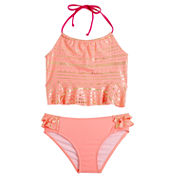 Limited Too Girls Solid Tankini Set - Big Kid