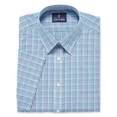 Stafford Travel Easy-Care Broadcloth-Big & Tall Short-Sleeve Dress Shirt