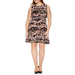 Worthington® Sleeveless Fit & Flare Dress - Plus