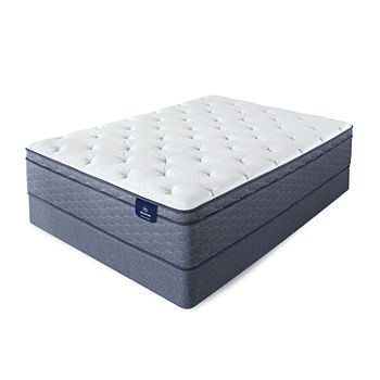 Serta Sleeptrue Lindridge Firm Eurotop Mattress Box Spring