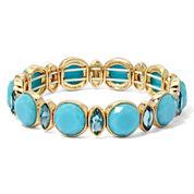 Monet® Blue Stone Gold-Tone Stretch Bracelet