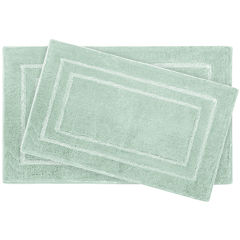 Laura Ashley™ 2-pc. Pearl Double Border Bath Rug Set