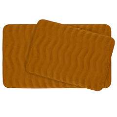 Bounce Comfort Waves 2-pc. Memory Foam Bath Mat Set