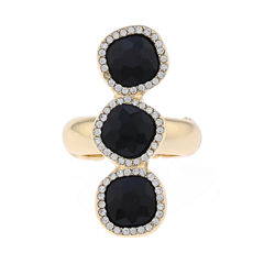 Monet Jewelry Womens Black Cocktail Ring