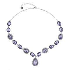 Monet Jewelry Womens Purple Y Necklace