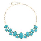 Monet Jewelry Womens Blue Strand Necklace
