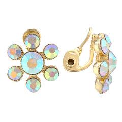 Monet Jewelry White Clip On Earrings