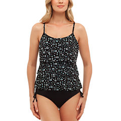 St. John's Bay® Native Signals Triple Tier Tankini or Adjustable Side Brief