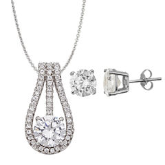 Womens 3-pc. 5 CT. T.W. White Cubic Zirconia Sterling Silver Jewelry Set