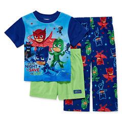 Boys 3-pc.PJ Masks Short Sleeve Kids Pajama Set-Toddler